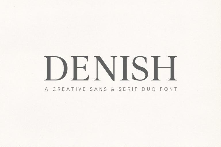Preview image of Denish Sans & Serif Duo Font
