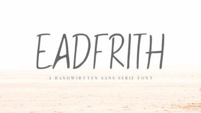 Eadfrith Handwirtten Sans Serif Font