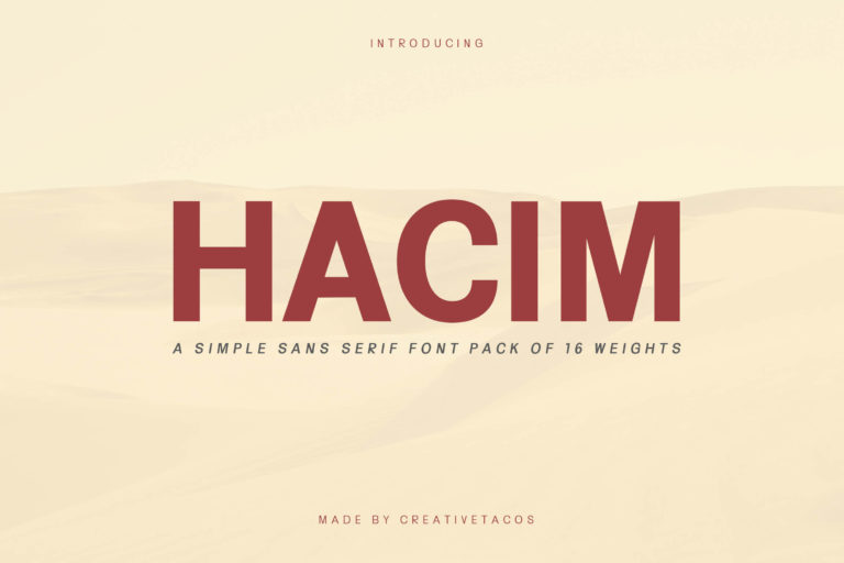 Preview image of Hacim Simple Sans Serif Font Family