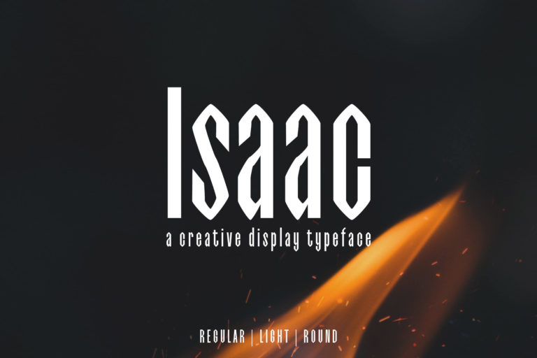 Preview image of Isaac Display Font Family