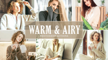Warm & Airy Photoshop Actions Pack