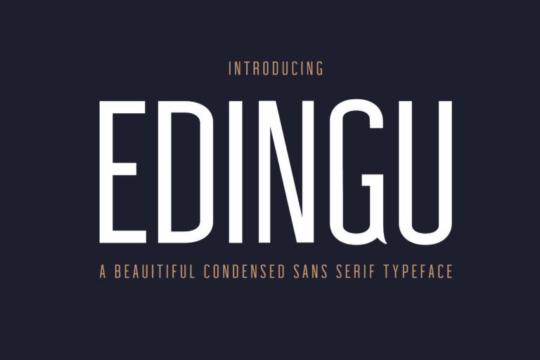 Preview image of Edingu Sans Serif Font Family
