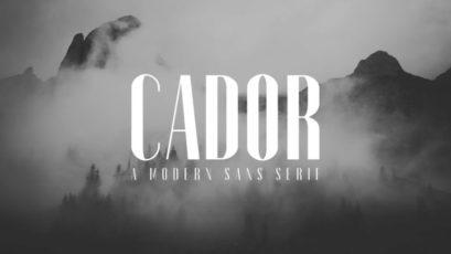 Cador Sans Serif Font Family Pack