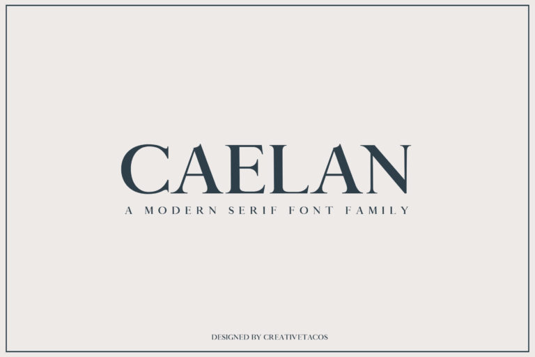 Preview image of Caelan Serif Font Family