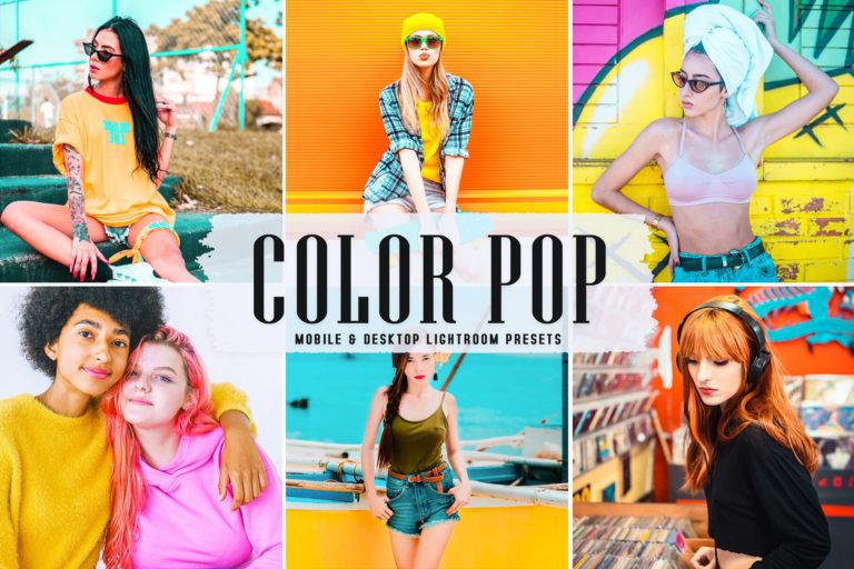 Preview image of Color Pop Mobile & Desktop Lightroom Presets