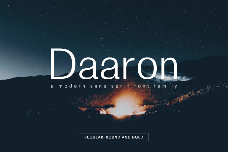 Preview image of Daaron Sans Serif Font Family