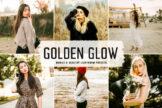 Last preview image of Golden Glow Mobile & Desktop Lightroom Presets