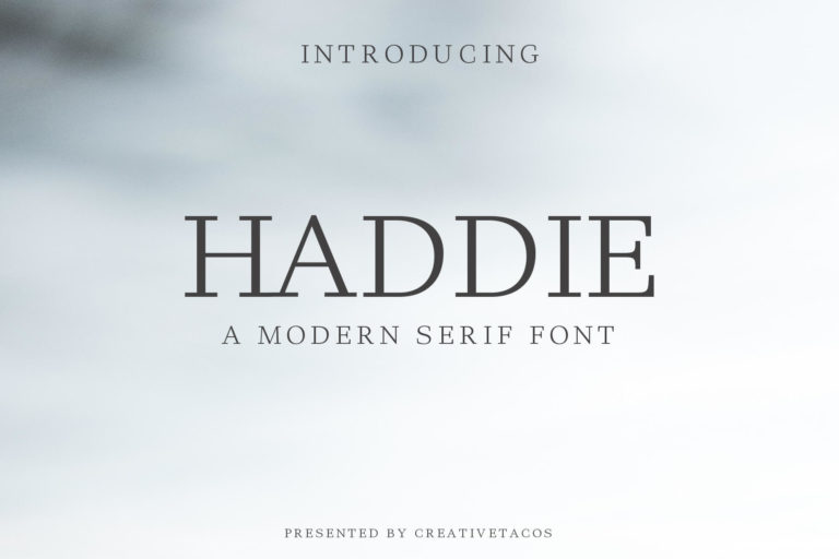Preview image of Haddie Modern Serif Font