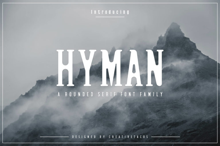 Preview image of Hyman Rounded Serif Font Family