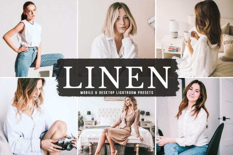 Preview image of Linen Mobile & Desktop Lightroom Presets