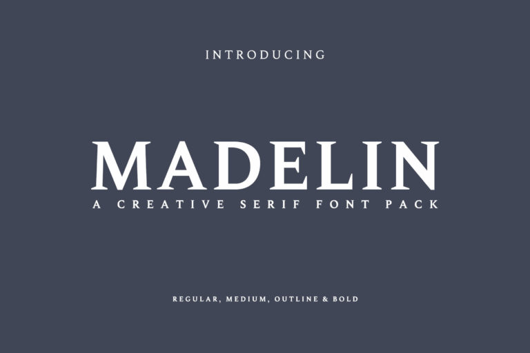 Preview image of Madelin Serif Font Family