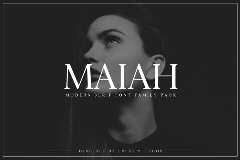 Preview image of Maiah Serif Font Family Pack