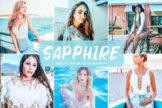 Last preview image of Sapphire Mobile & Desktop Lightroom Presets