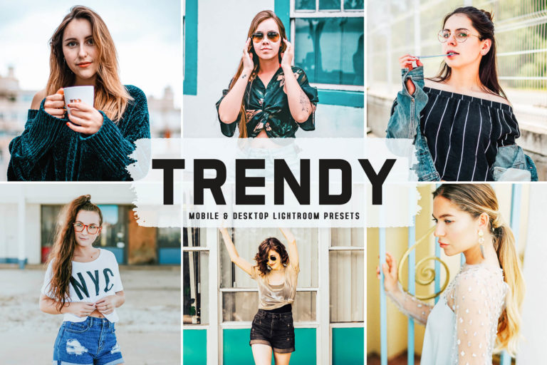Preview image of Trendy Mobile & Desktop Lightroom Presets