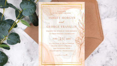 Classic Luxe Marble Wedding Invitation Template