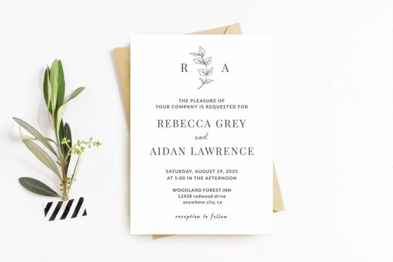 Preview image of Elegant Minimalist Wedding Invitation Template