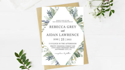 Eucalyptus Greenery Wedding Invitation
