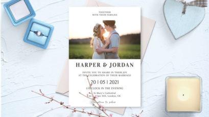 Modern Photo Wedding Invitation Template