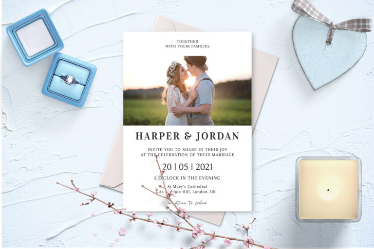 Preview image of Modern Photo Wedding Invitation Template