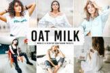 Last preview image of Oat Milk Mobile & Desktop Lightroom Presets