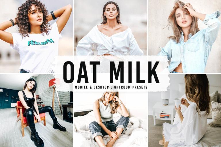 Preview image of Oat Milk Mobile & Desktop Lightroom Presets
