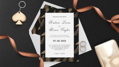 Tropical Palm Wedding Invitation Template