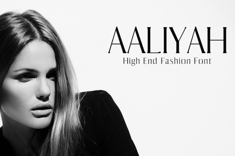 Preview image of Aaliyah Serif Typeface