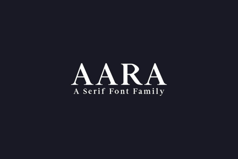 Preview image of Aara Serif Font Family
