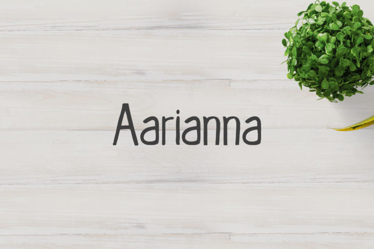 Preview image of Aarianna Handmade Brush Font Family