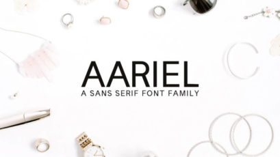 Aariel Sans Serif Font Family Pack