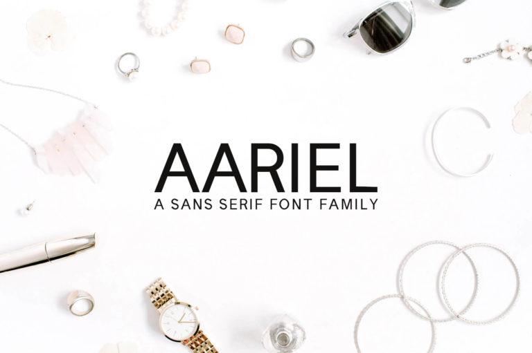 Preview image of Aariel Sans Serif Font Family Pack