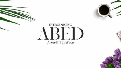 Abed Serif Typeface