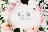 Last preview image of Abeetha Handmade Font