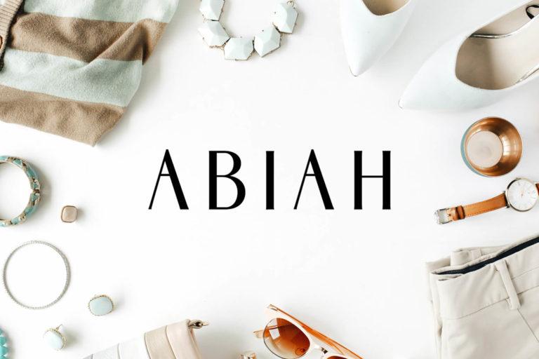 Preview image of Abiah Sans Serif Font Family