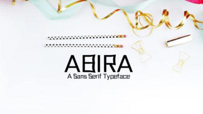 Abira Sans Serif Typeface