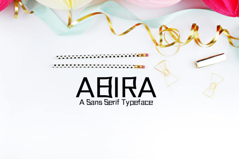 Preview image of Abira Sans Serif Typeface