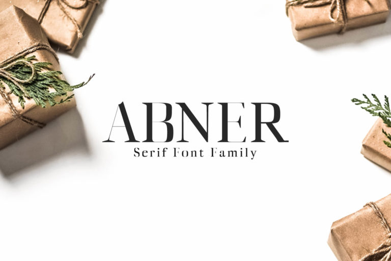 Preview image of Abner Serif Font Family