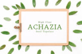 Last preview image of Achazia Serif Typeface