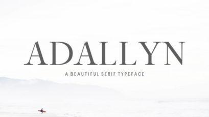 Adallyn Serif Font Family