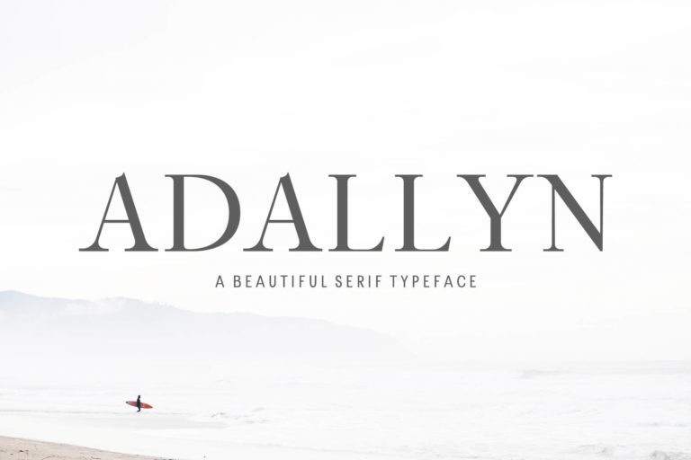 Preview image of Adallyn Serif Font Family
