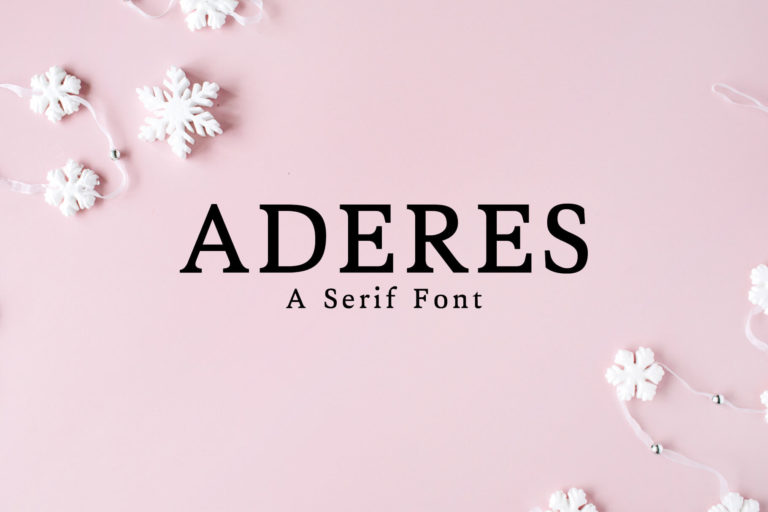 Preview image of Aderes Serif Font Family