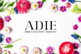 Last preview image of Adie High Class Serif Typeface