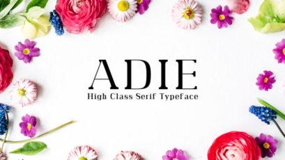 Adie High Class Serif Typeface