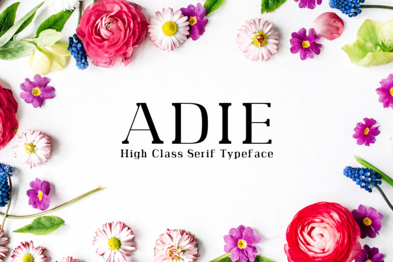 Preview image of Adie High Class Serif Typeface