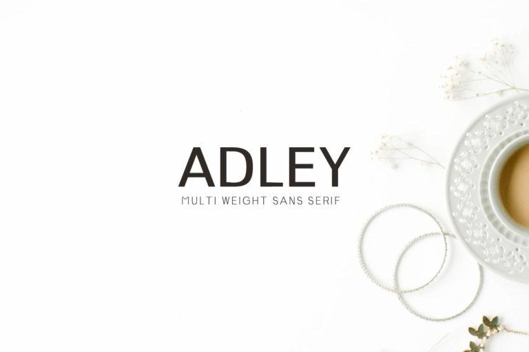 Preview image of Adley Sans Serif Typeface