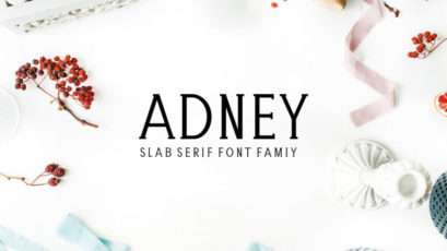 Adney Slab Serif Typeface