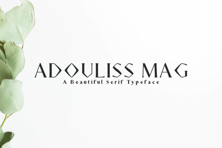Preview image of Adouliss Mag Serif 9 Font Family