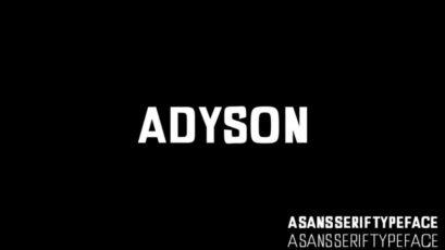 Adyson A Sans Serif Typeface