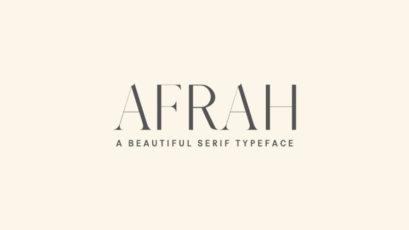 Afrah Serif Typeface