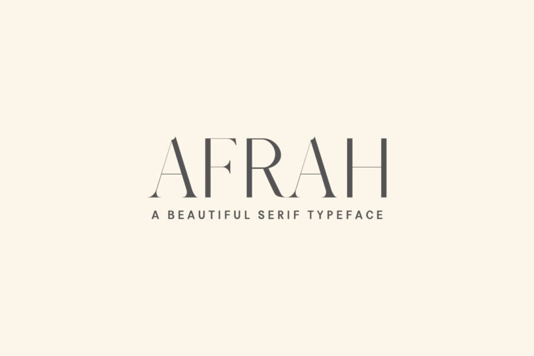 Preview image of Afrah Serif Typeface